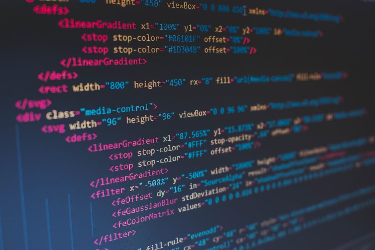 Lines of HTML codes