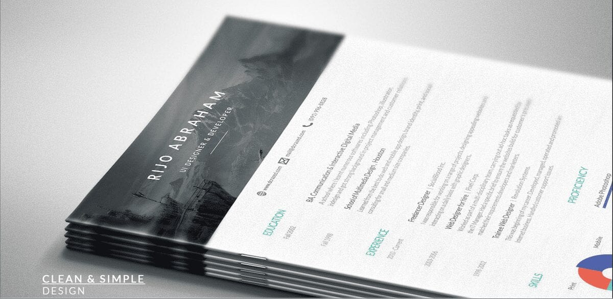 Free resume template from Rijo Abraham