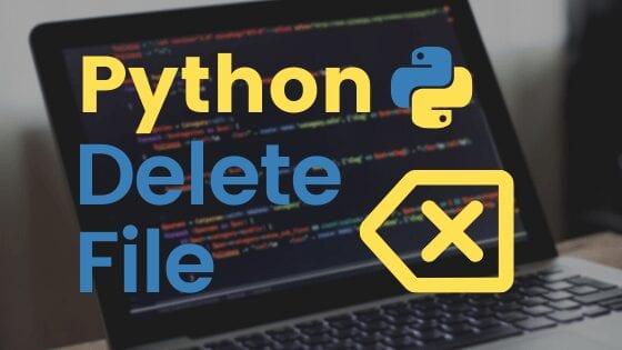 Python Delete File cover image with a delete symbol