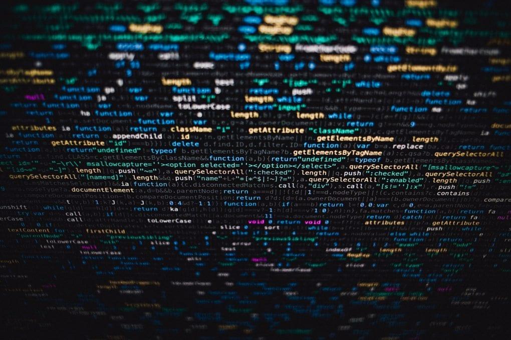 A close-up of computer code