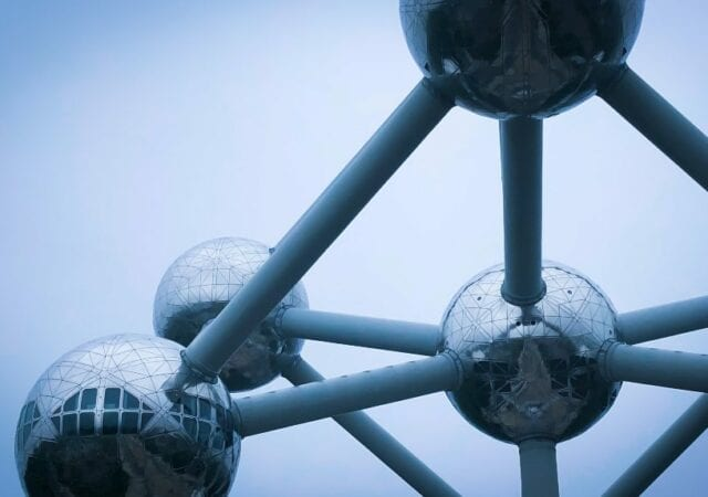 The Atomium Sculpture in Belgium of an Atom